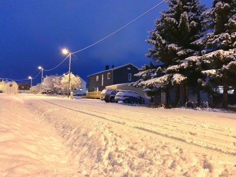 I dag våknet Tromsø opp til full vinter. Foto: Stian Saur