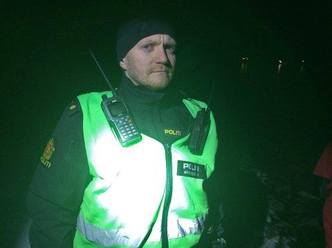 INNSATSLEDER: Eirik Nordgård, politiets innsatsleder.