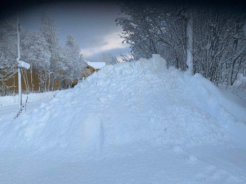 TUNG SNØ: Snøen som kom natt til søndag er tung og våt. Bildet er fra Workinnmarka.