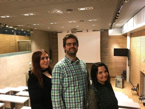 TRE PÅ TOPP: Marlene Berntsen Bråthen (til venstre), Mats Hegg Jacobsen og Olaug Kristine Hanssen ble mandag enstemmig valgt som de tre øverste kandidatene til Tromsø senterparti foran høstens kommunevalg.