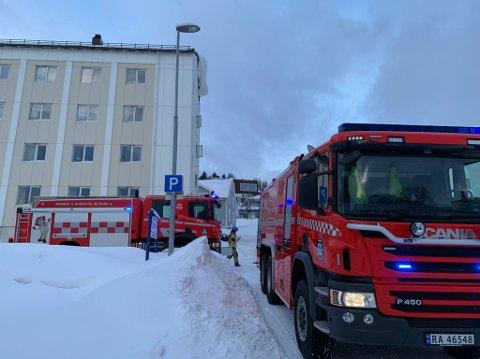 KONTROLL: Da brannvesenet kom til stedet, var brannen under kontroll.