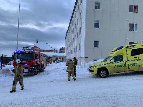 BRANN: Alle nødetatene rykket ut etter melding om brann på Laureng sykehjem i Tromsø.