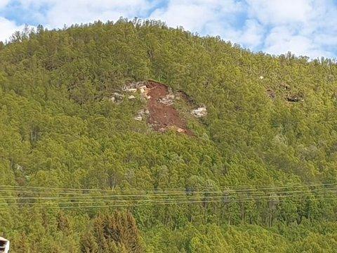 JORDRAS: Det gikk mandag kveld et jordras på Gammelgård i Tromsø.