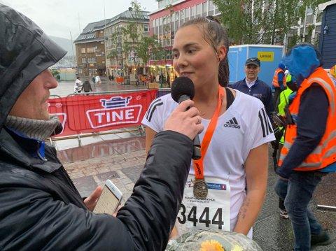 Ingvild Kaspersen vant halvmaraton for kvinner.