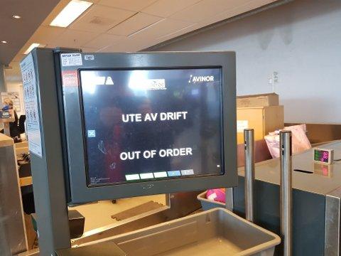 UTE AV DRIFT: Midt i morgenrushet sviktet systemet.