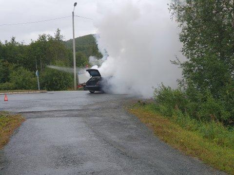 SLUKKET: Brannvesenet fikk slokket brannen.
