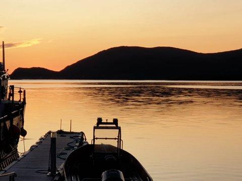 HER SKJEDDE ULYKKEN: Tussøya, fotografert fra Sandneshamn lørdag kveld.