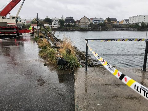 Her på fergeleiet i Svolvær skjedde den tragiske ulykka lørdag kveld. Foto: Ingvil Valberg