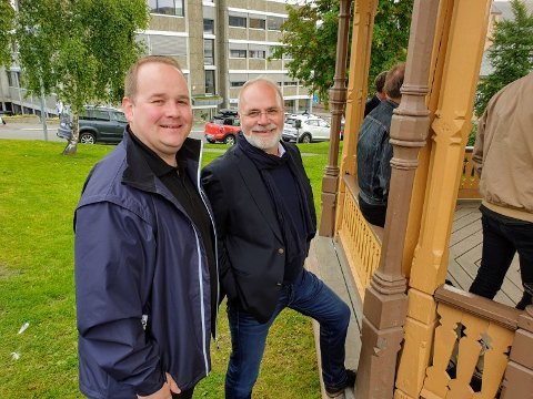 OPPOSISJONEN: Bjørn Gunnar Jørgensen (Frp) og Hans Petter Kvaal (H) har hatt samtaler med Senterpartiet, men partiet velger nå å gå i forhandlinger med Ap, MDG og SV.