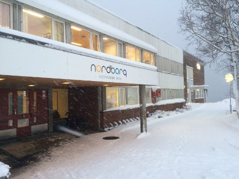 UTSATT FOR TRUSLER: Det er fremsatt trusler mot Nordborg skoler på Finnsnes.