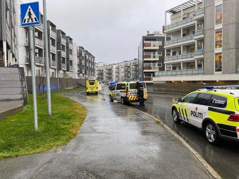 AKSJON: Væpnet politi er onsdag formiddag på plass på Tomasjordnes.