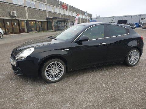STJÅLET: Karl Ivar Ingebrigtsen sin bil, en Alfa Romeo med registreringsnummer PD 43662, har blitt stjålet.