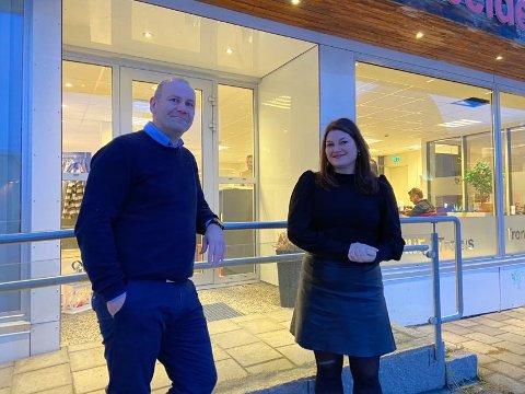 ARBEIDERPARTIET: Cecilie Myrseth og Nils-Ole Foshaug fikk første- og andreplassen på Troms Arbeiderpartis liste.