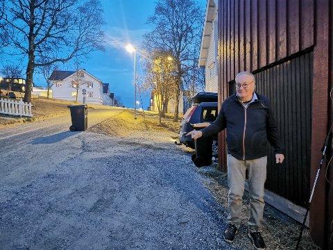 FRASTJÅLET: Her sto bilen til Leif Erik Loe. Den ble stjålet natt til tirsdag.