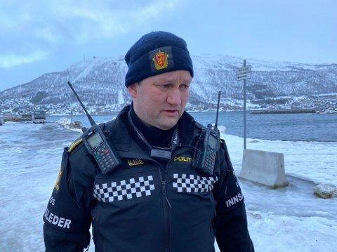 PÅ STEDET: Innsatsleder på stedet, Robin Lindberg.