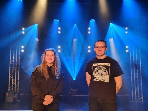 ARRANGØRENE: Marie Sofie Mikkelsen og Markus Danjord er blant initiativtakere til livekonsertene, som arrangeres av musikkselskapet V10 og scene-selskapet Onstage.
