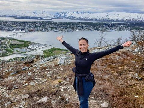TURGLAD: Anette Dale (26) elsker turmulighetene i Tromsø.