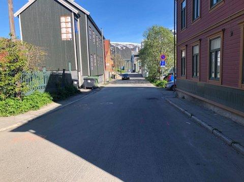 STENGT: Søndre Tollbodgate vil holdes stengt i cirka fire måneder som følge av oppgraderings-arbeid.