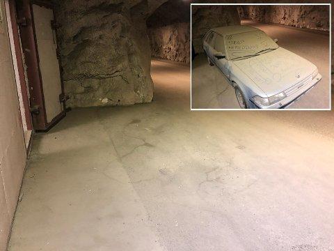 BORTE: Her hadde bilen fast parkeringsplass i nesten fire måneder.