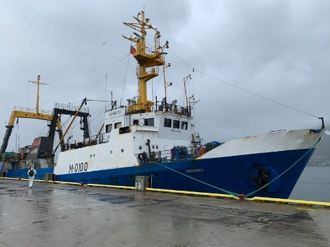TILBAKE:  «Kokshaysk» er tilbake i havn i Tromsø.