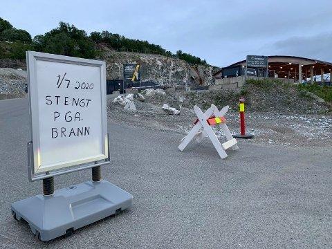 ÅPNER MANDAG: Returstasjonen ved Remiks har vært stengt siden branne i Kvitebjørn Varme tirsdag kveld.
