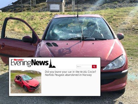 OPPSIKT: Historien om den hensatte bilen i Finnvikdalen vekker internasjonal oppsikt.