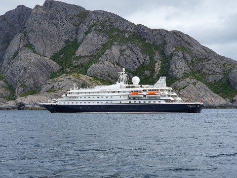 Seadream1: Seadream utenfor Lofoten tidligere i sommer.