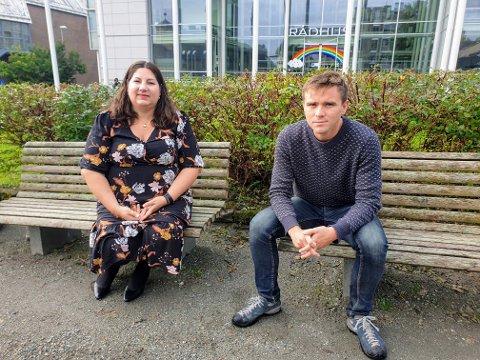 SIMAVIKA:  Aps Tone Marie Myklevoll og SVs Benjamin Notkevich vil ha skytebane i Simavika