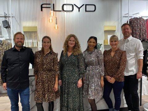 ÅPNING: Her er gjengen bak Floyd-åpningen på Jekta. Fra venstre: Kenneth Smith, Karense Smith, Stina Myreng, Maria  Ratnasingam, Charlotte Stangeland og Øystein Myklebust.