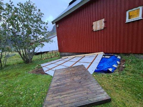 TAK: Her ligger taket til familien Sørensen.