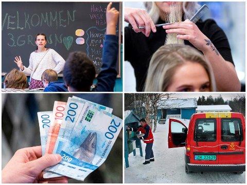 LIKT ARBEID - ULIK LØNN: Likt arbeid gir ikke nødvendigvis lik lønn. Ulikhetene gjenspeiles både i kjønn, lønn og geografi.