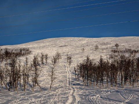 MYE BRUKT: Fjellet på Kvaløya er brukt enda mer enn normalt denne vinteren.
