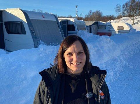 LITE BOOKINGER: Maria Kristiansen, daglig leder på Tromsø Lodge & Camping forteller om en rolig vinterferie.
