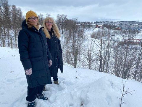 Kommunen ville bygge fortau og sykkelveg mellom Arthur Arntzens veg, det søstrene Anne og Bente Reibo bor, og E8. Nå er planen skrinlagt etter kvikkleirefunn.