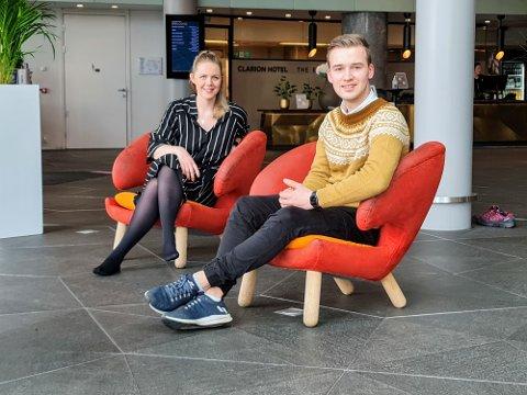 AUF-REPRESENTANTER: Marta Hofsøy og Kristian Fagerli støtter mindretallet, og sier ja til rusreformen.
