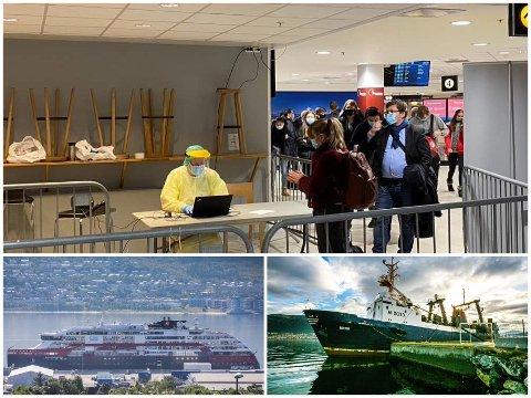 IMPORTSMITTE: Fly og båt er to store grunner for all importsmitten i Tromsø.