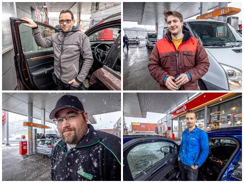IKKE LIKE FORNØYD: Bilfolket har forskjellige meninger om at Skippergata skal stenges. Alle lurer derimot på hvorfor.