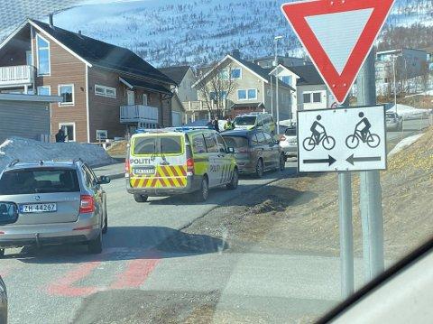 STRAND: Ulykken har skjedd ved krysset til Strand-feltet på Kvaløya.