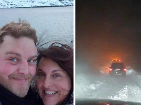 UTFORDRENDE: Veien var stengt 30 dager i fjor. Paret Thomas Poulsen og Irina Elena Plataga så ingen annen utvei enn å kjøpe seg hybel ved arbeidsplassen.