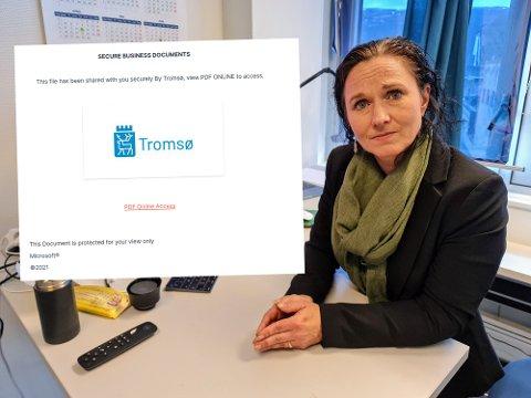 MANGE ER LURT: IT-sjef Marita Tiller vet at flere er lurt av den falske eposten.