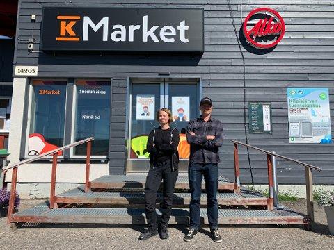 BEKYMREDE SØSKEN: Elina Rousu-Karlsen og Mikko Rousu har hatt sine utfordringer under koronapandemien. Utfordringen er først og fremst mangel på handlende nordmenn.