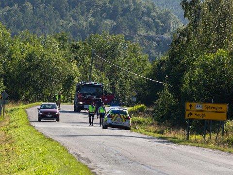 ULYKKE: Det var ved Nervatnet/Høgdakrysset at trafikkulykka skjedde.