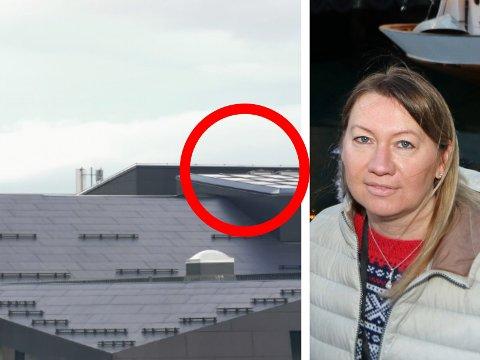 LØSNET: Onsdagens vindkast skapte problemer for Kystens Hus.