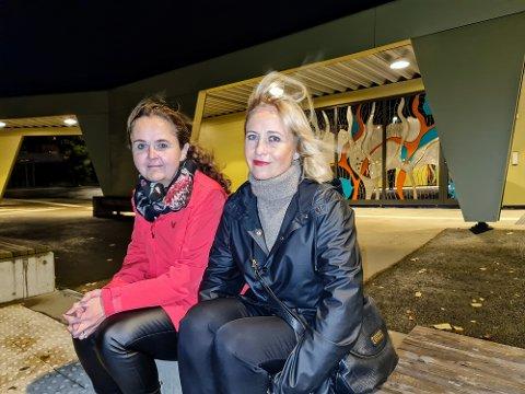 FORELDRE: Kari-Anne Johansen (t.v.) og Therese Lein er foreldre til elever ved Sommerlyst skole. De mener lærebøkene ikke holder mål.