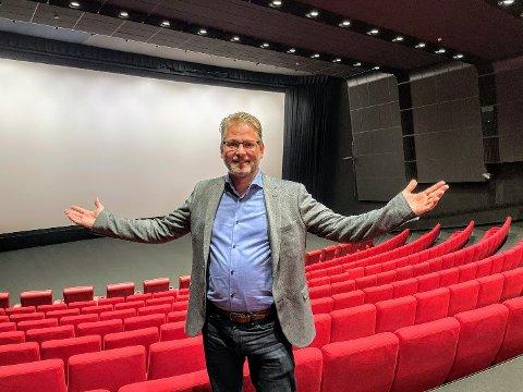 FULLT: Snart kan kinosjef, Geir Martin Jensen juble over fullsatte kinosaler igjen.
