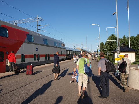 Jernbanestasjonen i Rovaniemi.