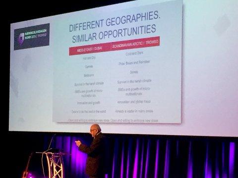 Tromsø er som Dubai - bare motsatt, sier Santosh Hejmadi, grunnlegger og daglig leder i Market Gurus International.