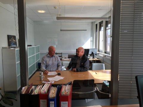 Styreleder Stig Olsen og økonomileder Leif Astor Bakken.
