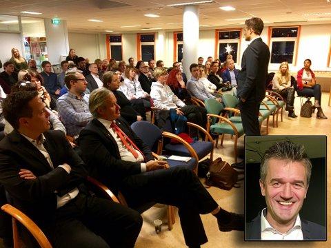 Vipps-sjef Rune Garborg forteller om framtidsplanene på frokostmøte ved Flow i Tromsø
