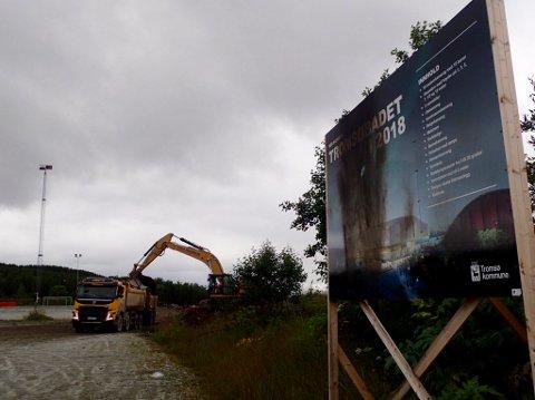 Mandag startet grunnarbeidet for et badeland i Tromsø.